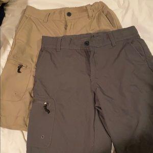 Magellan boys shorts. Grey and khaki